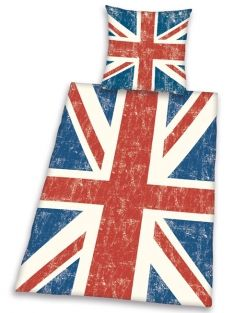 eenpersoons union jack britse vlag dekbedovertrek vintage