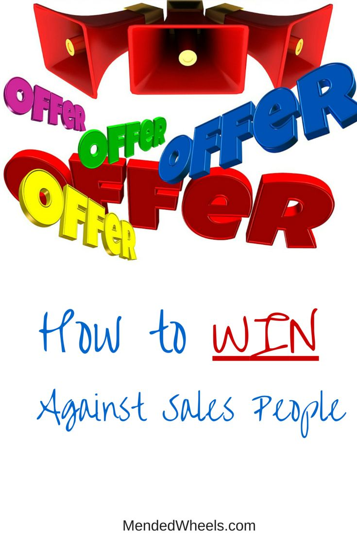 Do you find yourself struggling with sales people? These tips can make your shopping trips incredibly easy so you WIN with sales people!