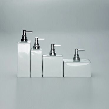 Soap Dispenser Porcelain White Chrome Rectangle Order One Now At 55 00 Free Accessories Onlinebathroom