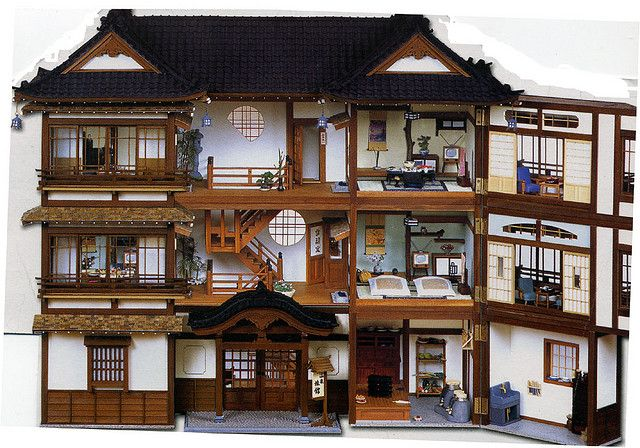 Old fashioned Japanese doll house. Want!