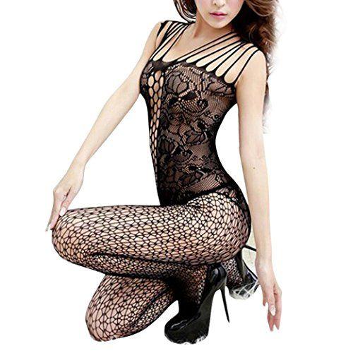 Creazy® New Sexy Woman Open Crotch Mesh Fishnet Bodystocking Stocking Lingerie (B)