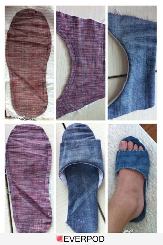 Shoes from jeans