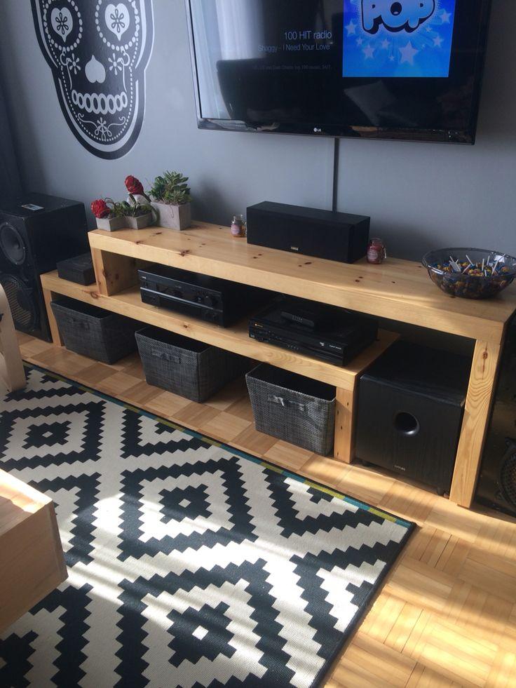 1000 ideas about diy tv stand on pinterest diy tv tv. Black Bedroom Furniture Sets. Home Design Ideas