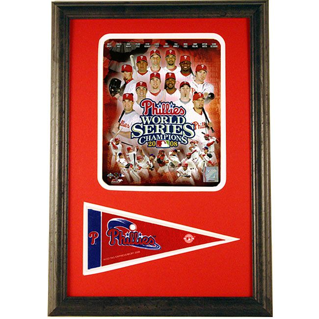 Encore Select Phillies 2008 World Series 12x18 Framed Print with Pennant