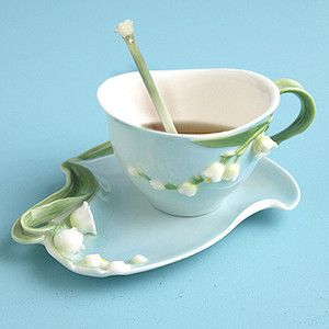 Two's Company Lily of the Valley Tea Set