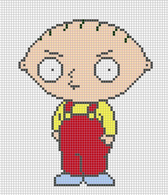 Stewie Griffin - Pixel Art Templates