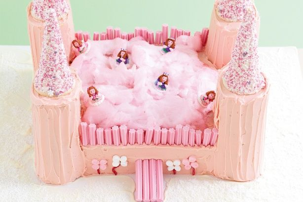 Little princesses will love this cake, complete with fairy floss and pink sprinkles.