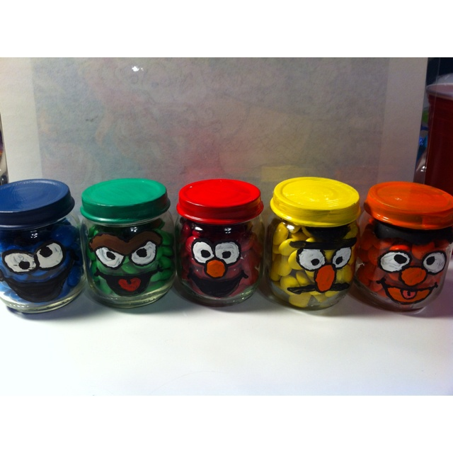 I Took Baby Food Jars W Colored M And Painted Them Did