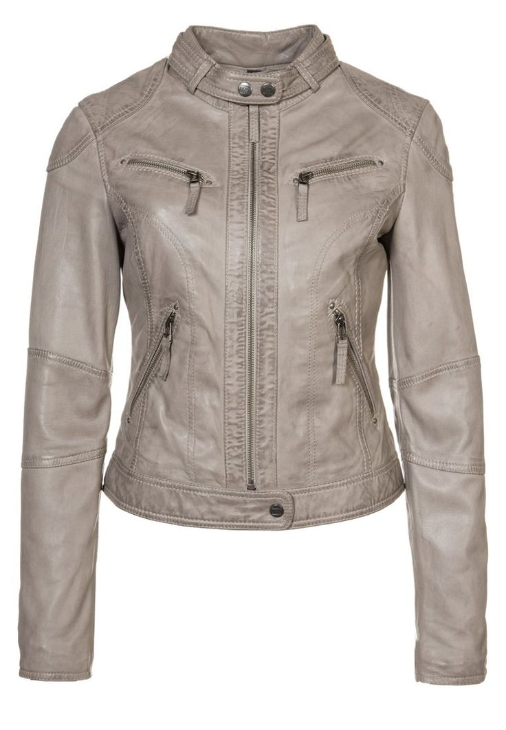 Oakwood - #Leather #jacket - #grey