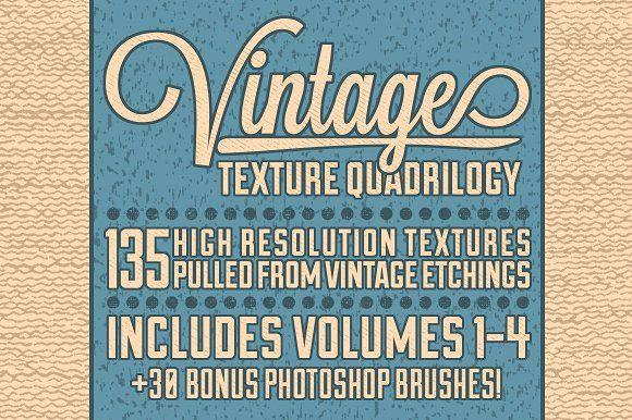 Vintage Texture Quadrilogy by Matt Borchert on @creativemarket