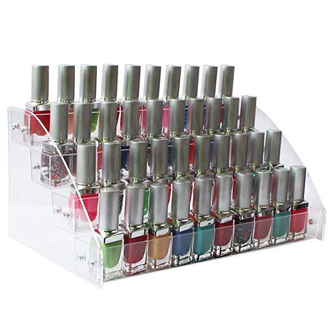 Mordoa Nail Polish Display Fashion 4 Tiers Cosmetic Makeup Display