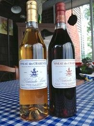 Pineau des Charentes Normandin Mercier, red and white