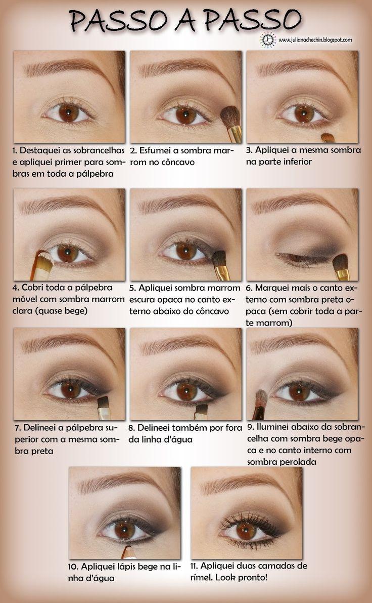 passo a passo de maquiagem preta e marrom - Bing Imagens