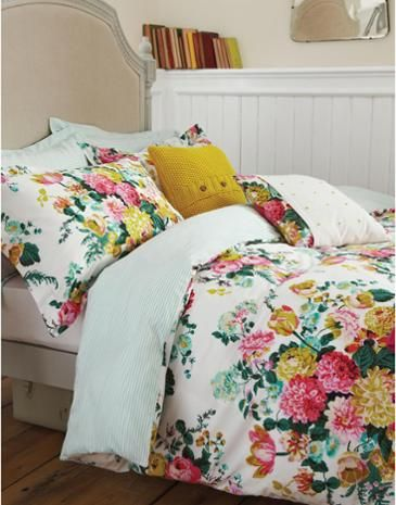 Joules Ruby Floral Duvet Cover, Ruby Floral. LOVE this color scheme, reminds me of The Greenbrier aka my favorite place on earth other than the barn.