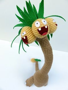 This is a free pattern to make your own Alolan Exeggutor!