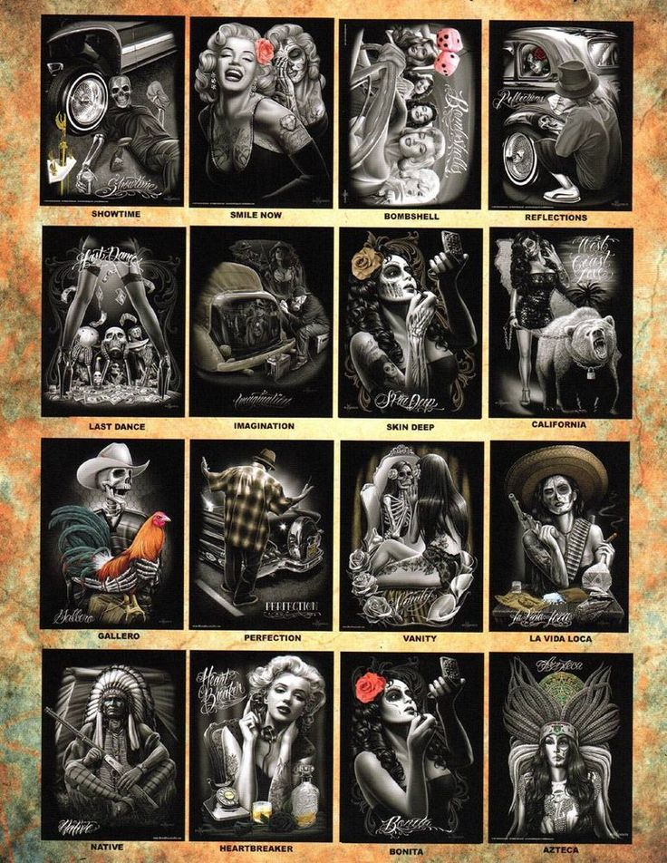 DGA David Gonzales Art Print Posters Lowrider Sugar Skull Homies Chicano Artwork