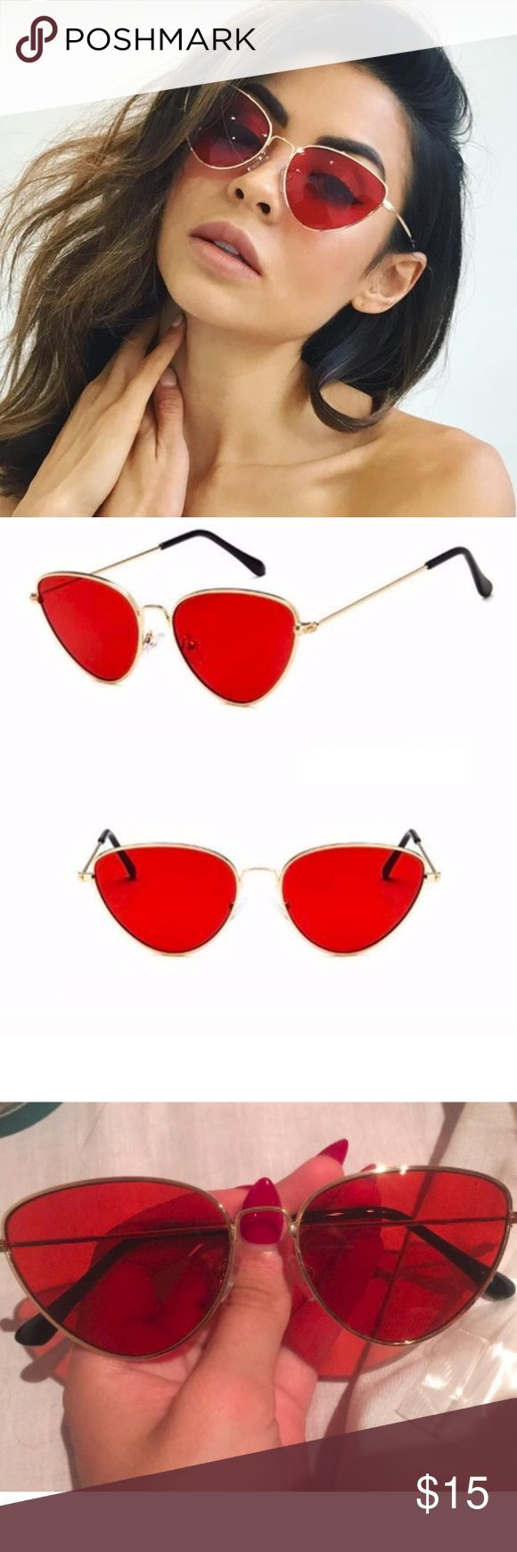 New rose rot getönten retro cat eye sonnenbrille gold gerahmte cat eyed sonnenbrille mit …,…