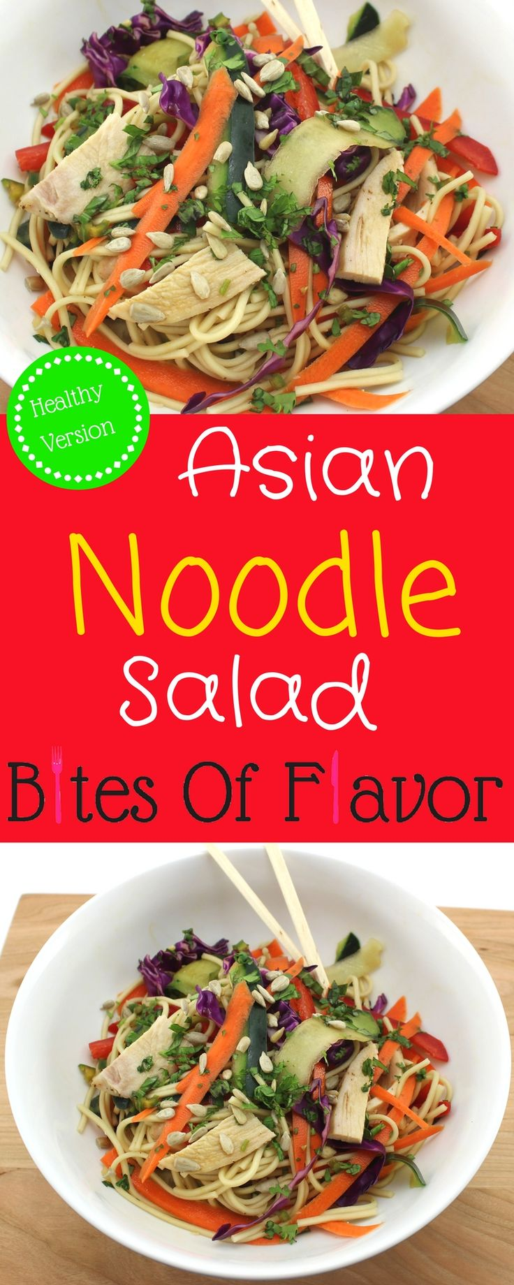 Asian Noodle Salad Easy To Make With Fresh Ingredients Perfect For A Grab On