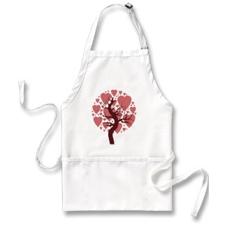 Love is all around the kitchen when you wear this heart inspired apron