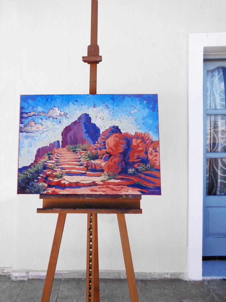 Painting Santorini - House remains - Oil on canvas, 60cm x 80cm #Santorini #painting #art #illustration