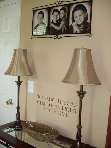 Add a little extra below a frame to make a statement!  http://foreverexpressions.uppercaseliving.net/