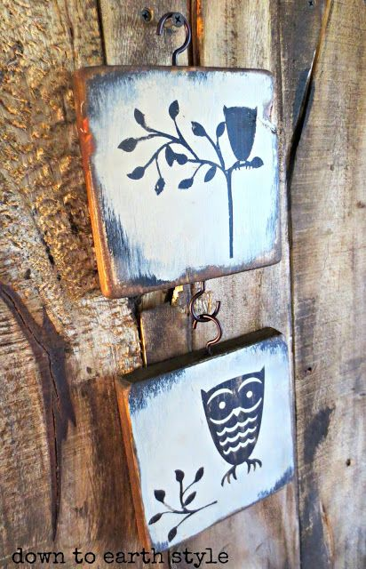 Down to Earth Style: Scrap Wood Art Using a Cricut   Visit & Like our Facebook page! https://www.facebook.com/pages/Rustic-Farmhouse-Decor/636679889706127