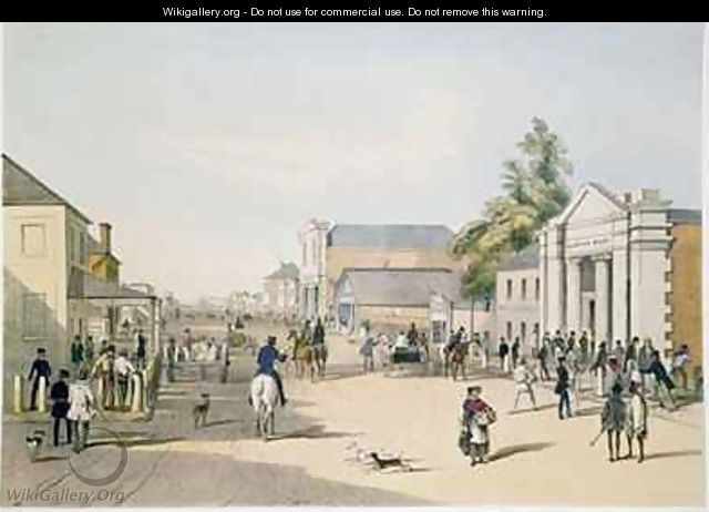 Hindley Street from the corner of King William Street Adelaide - Samuel Thomas Gill