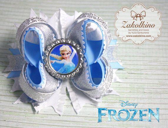 Congelés Accessoires cheveux arc  Elsa Hair Bow  par ZakolkinoCom