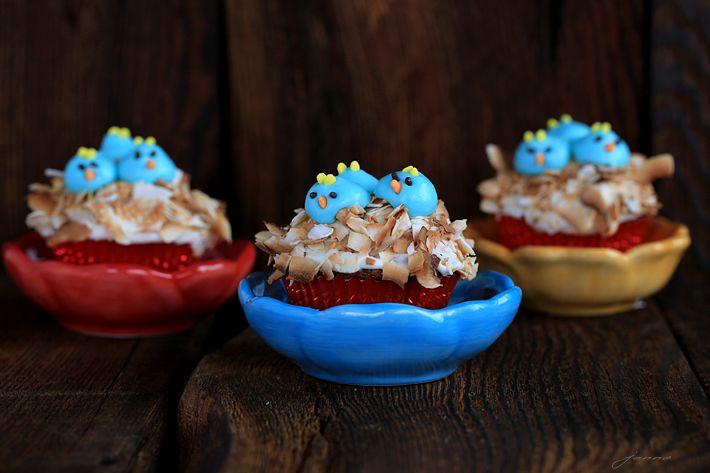 Baby Bluebird Cupcake