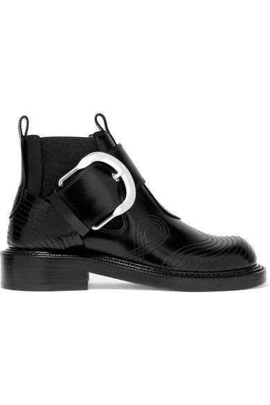 Maison Margiela | Net-A-Porter | Heel measures approximately 35mm/ 1.5 inches Black leather Buckle-fastening strap Made in Italy