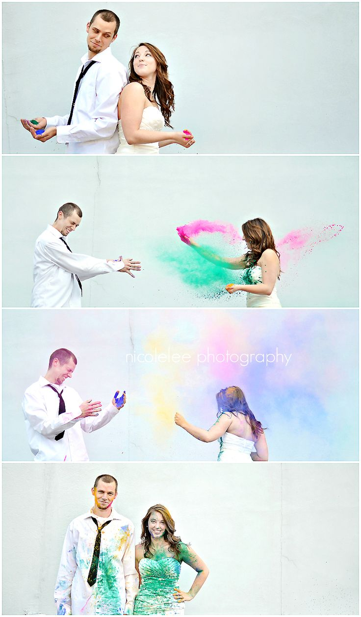 I want a Epic Trash the dress session! Holi Powder :)