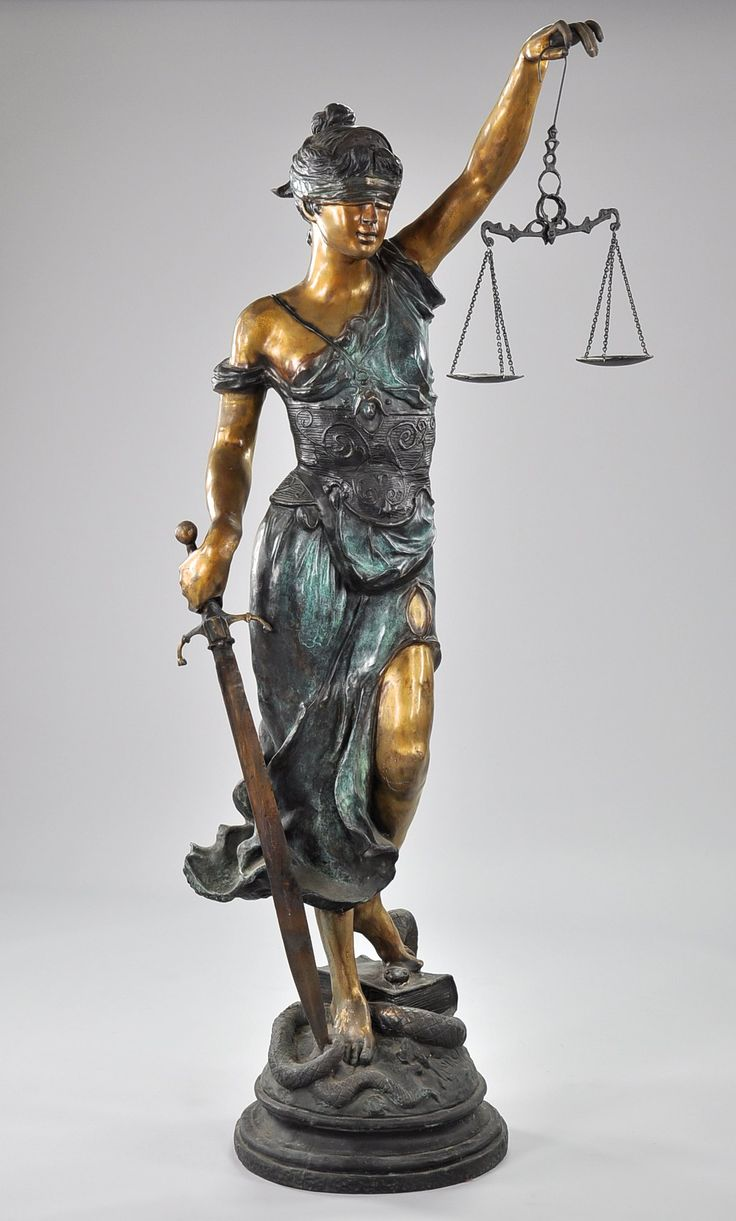 A Large Bronze Statue of Themis, Blind Justice | Lady ...