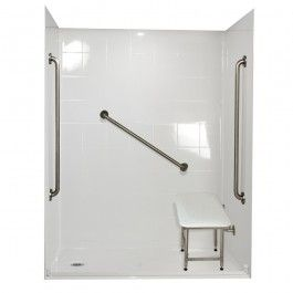 Roll In Shower System Ella's Bubbles 6036 BF 5P .875 C-WH FRDM Freedom