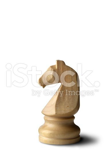 Chess: Knight (White) royalty-free stock photo