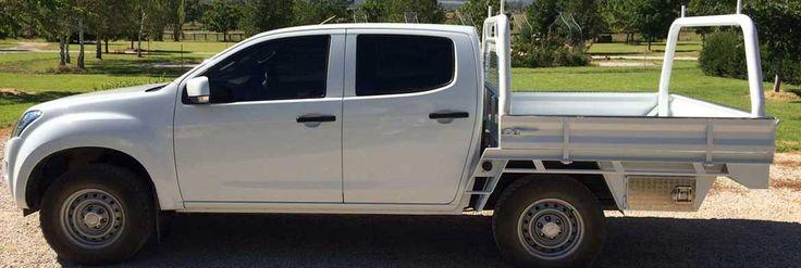 Isuzu D-Max steel ute tray body made by Taurus Trays in Mudgee, NSW, Australia.
