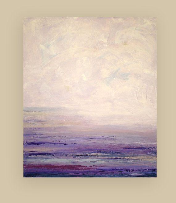 """Pintura abstracta arte acrílico sobre lienzo titulado: 30x36x1.5 ausencia """"por Ora Birenbaum"""