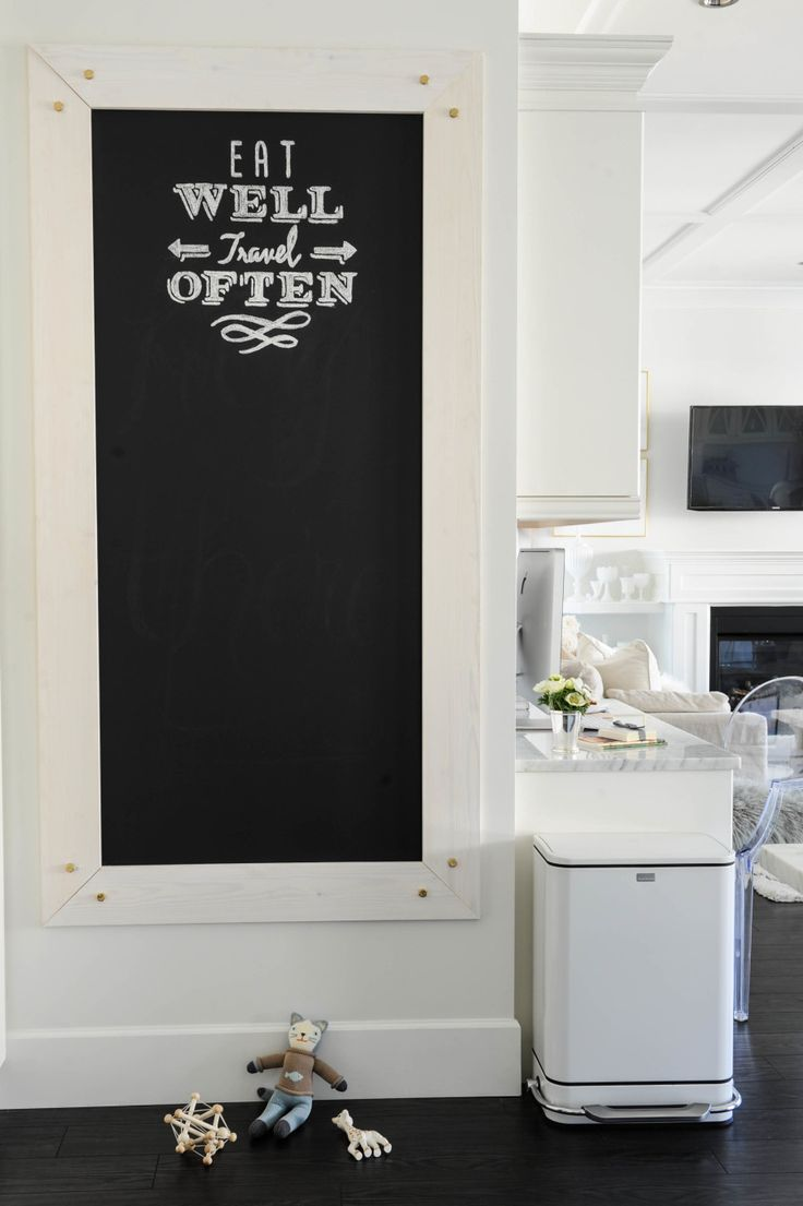 Framed chalkboard for kitchen - Find This Pin And More On Chalkboard Paint Ideas