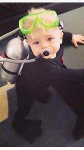 Scuba diving baby! Super cute costume!