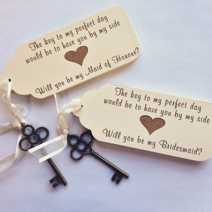 Will You Be My Bridesmaid (Maid of Honour) Vintage Key