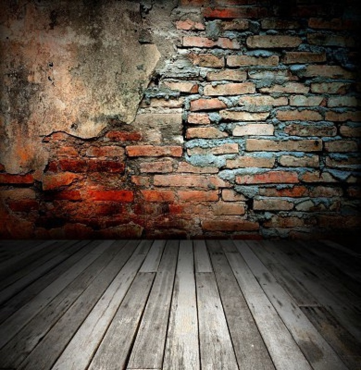 Beautiful Old Room With Brick Wall Texture Background
