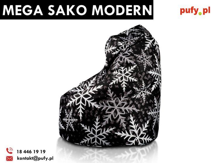 Worek Mega Sako Modern to drugi co do wielkości produkt w klasycznym kroju Worka Sako. Po za wielkością wyróżniają go także dostępne wzory, wśród których znajdziemy także wzór świąteczny. Teraz w promocyjnej cenie 279 złotych!  #woreksako #pufasako #świątecznapufa #prezenty #fotelsako #pufypl #meblerelaksacyjne #meblemłodzieżowe