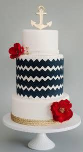 nautical 3 tier cake