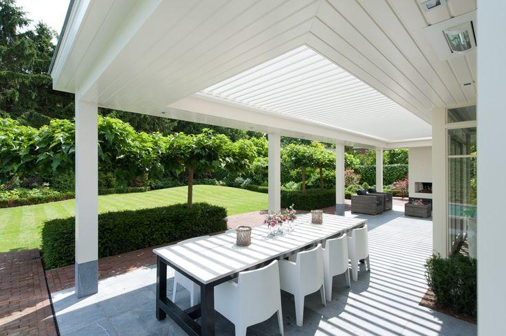 Livium veranda met Louvres, LED spotjes en heaters  - Startpagina voor tuin…