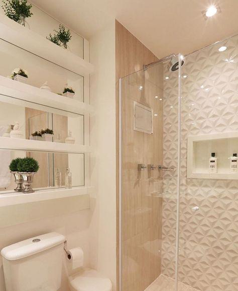 25+ melhores ideias sobre Banheiro bege no Pinterest  Decoração de lavabo, D -> Banheiro Com Pastilha Na Parede Do Chuveiro