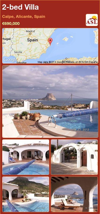 2-bed Villa in Calpe, Alicante, Spain ►€690,000 #PropertyForSaleInSpain