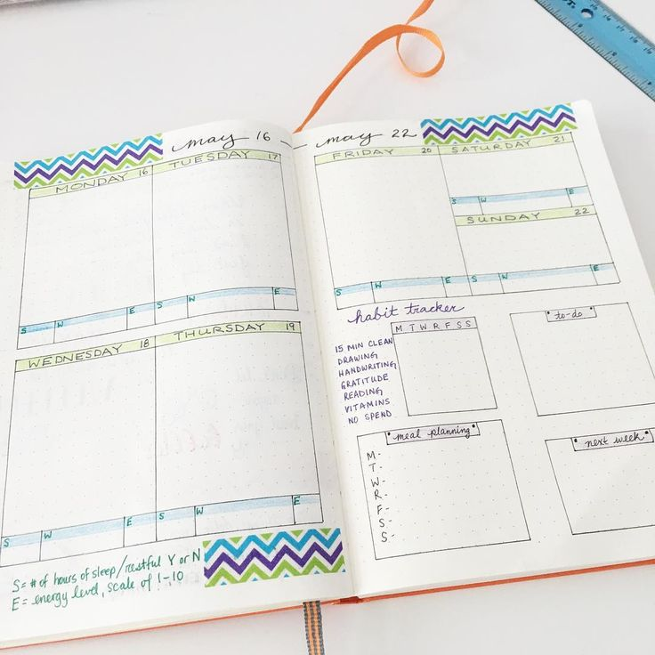 weekly bullet journal spread inspiration