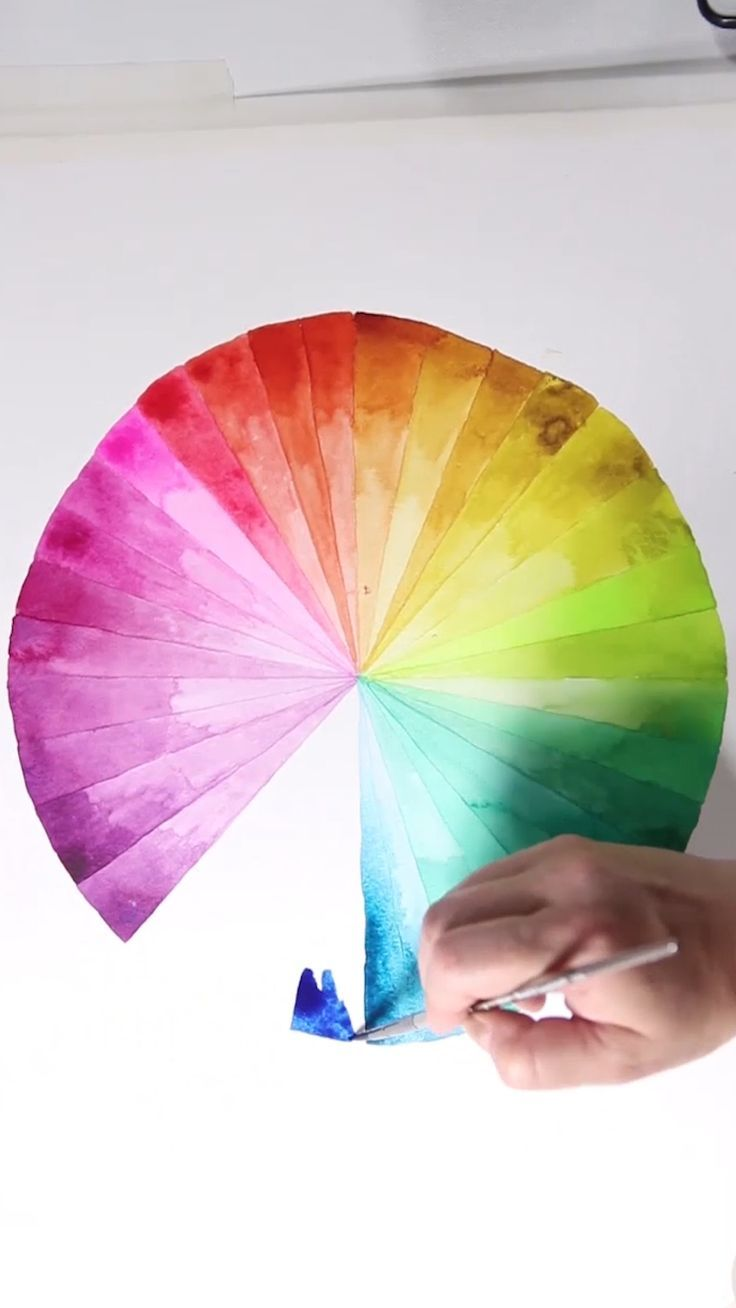 Watercolor Color Wheel Artsy Color Watercolor Wheel
