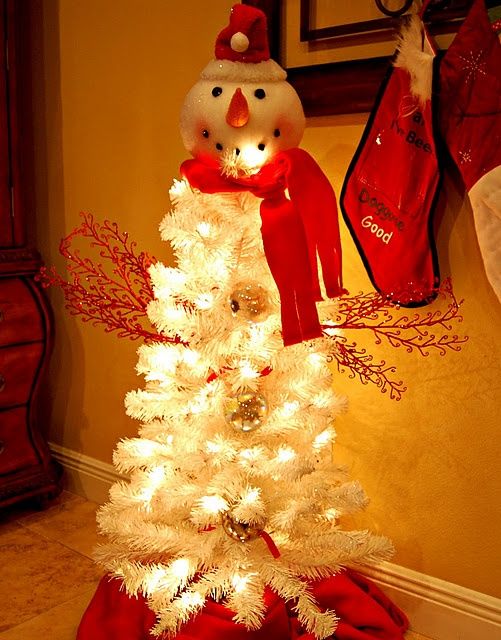 Frosty the snowman tree.