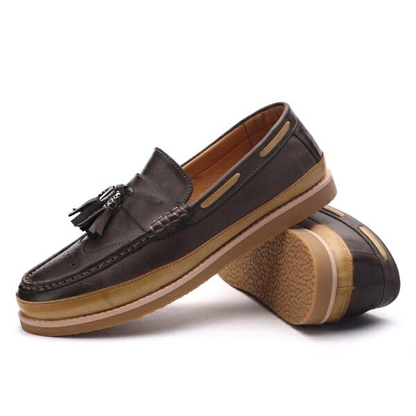 $29 Top Grade Men Loafers Genuine Leather Comfortable Luxury Tassel Mens  Dress Shoes Flats for Business