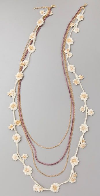 flower necklace oya lace